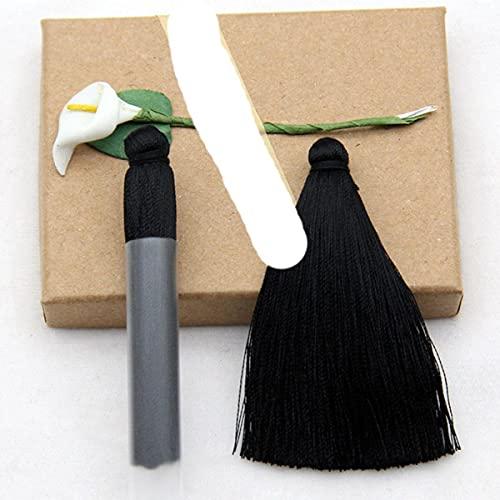 5 unids / Lote 70 mm de Largo Borla de Seda de algodón Colorida para Pendientes de Bricolaje borlas Colgantes para fabricación Hecha a Mano hallazgos joyería-Color 1 como Foto