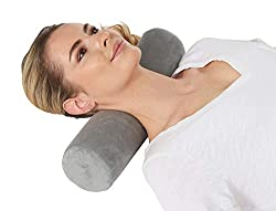 multi purpose cervical neck pillow AllSett Health Memory Foam Pillows, Neck Pillows, Neck Pillows, Round Neck Pillows Sleep Support | Bed, Legs, Back, Yoga Cushions, Gray