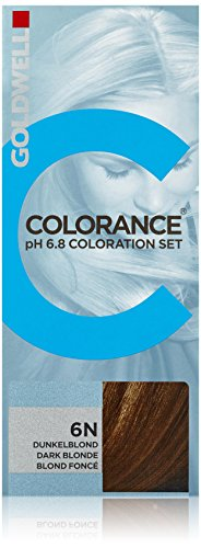 Goldwell Colorance pH 6,8 Colorations Set 6N, dunkelblond, 1er Pack, (1x 90 ml)
