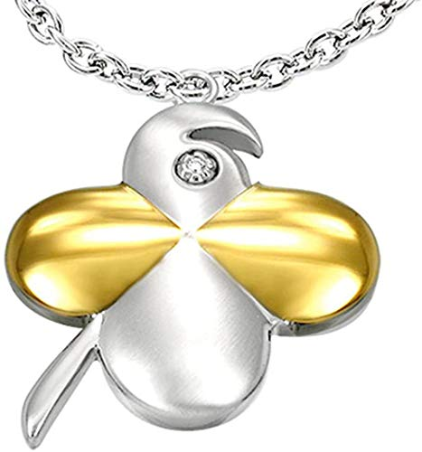 MNMXW Azzire Stainless Steel Shamrock Four Leaf Lucky Clover Pendant on a 20 Chain Necklace