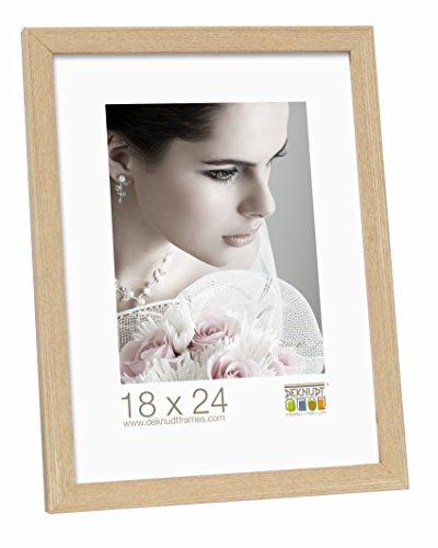 Deknudt Frames S44CH1-18.0X24.0 Bilderrahmen, Holz/MDF, Schlichter Stil, schmal, 27,2 x 21,2 x 1,33 cm, Eiche