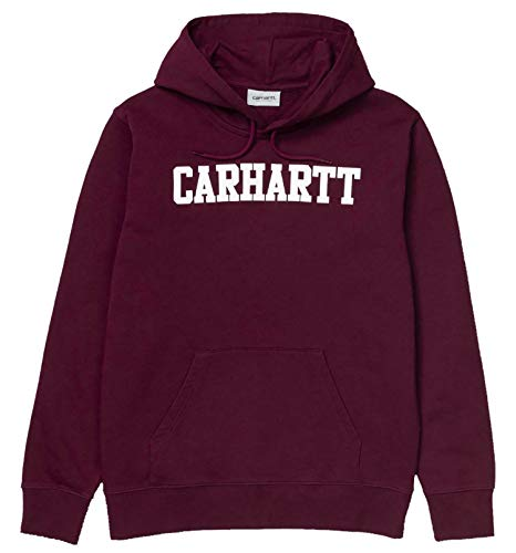 Carhartt Hooded College Sweat Sudadera con Capucha para Hombre Bordeaux 1024669MRLT