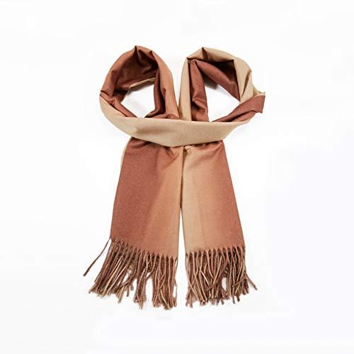 DIDI Ladies Winter Scarf, Tasseled Soft Warm Cashmere Felt Shawl Wrapped Lightweight Scarf Thick Blanket