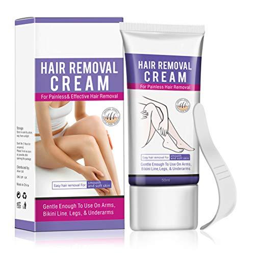 Haarentfernungscreme, Enthaarungsmittel Schmerzlose Haarentfernung Creme auf Kalb, Unterarm, Lässt die Haut sanft Schnelle und Effektive Haarentfernung für Seidig-Glatte...