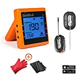 GOOD GRILL Wireless Meat Thermometer with Dual Stainless Steel Probes for Grill & Smoker – Bluetooth Meat Thermometers with 160' Range with 2 Special Bonuses & Temp Monitoring Smartphone App