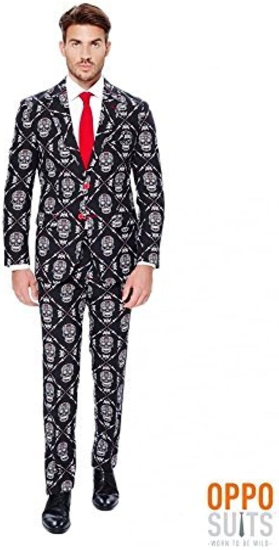 Tienda de moda y compras online. OppoSuits Men's Haunting Hombre - Party Costume Costume Costume Suit, negro naranja, 46 by generique  al precio mas bajo