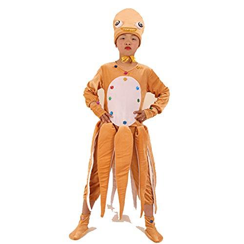 JJAIR Tiere Bühne Prop-Kostüm, Kinder Krake Cosplay Baby-Erwachsene Abendkleid Overall-Outfit für Bühnenproduktionen,140