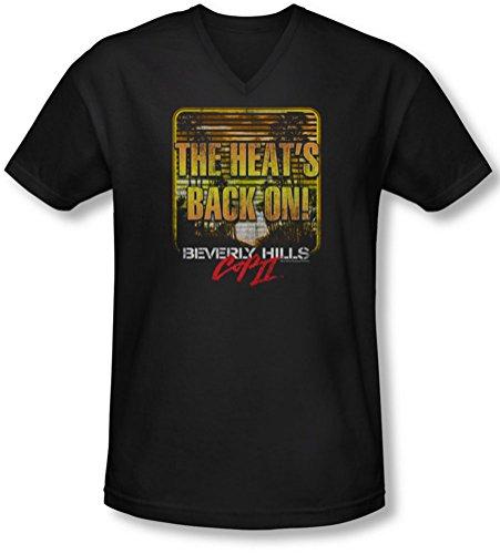 Bhc Iii - Le Retour Manches Homme Le V-Neck T-shirt, Large, Black