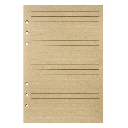 Maleden Leder-Tagebuch, Nachfüllpapier, für 5 x 7 Reisetagebuch, 160 Seiten A5 A5 Lined