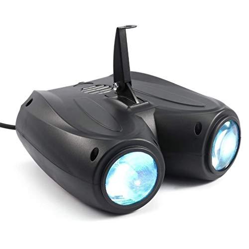 RGBW DJ Bühnenbeleuchtung, Drehbares Discolampe, Sprachsteuerte Party Lampe, Verwendung Für Spiegelball-Scheinwerfer Für Disco, Automatische Farbänderung