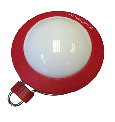 Round LED Camping Light with Hook and Magnet - 8 cm - Blue, Red, Green or Black (Red)