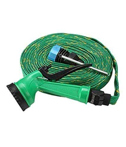 REXONA Plastic 10m Water Spray Jet Gun Hose Pipe for Garden/Car/Bike/Pet Wash