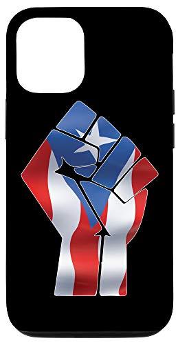 iPhone 12/12 Pro Boricua Puerto Rico Flag Raised Fist Cool Proud Puerto Rican Case