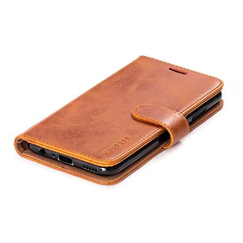 Mulbess Handyhülle für Honor 20 Lite Hülle, Leder Flip Case Schutzhülle für Huawei P Smart+ 2019 / Honor20 Lite Tasche, Cognac Braun - 5