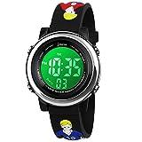 BIGMEDA Reloj Digital para Niños Niña, Luz Intermitente LED de 7 Colores Reloj de Pulsera Niña Multifunción, para Niños de 3 a 12 años (Fútbol)