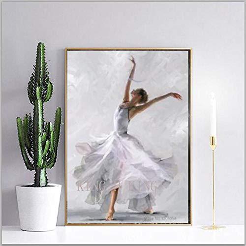 Dibujos Animados Anime Pintura al óleo Artista español Bailarina de Ballet de Calidad Pintada a Mano en el Lienzo Pintura de Baile Flamenco Pintura la Sala de Estar decora-40x60CM_Kingh1