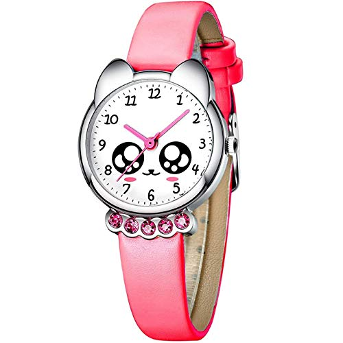 LDL - Child Watches Watches Girls Boys Waterproof 3D Cute Cartoon Wrist Watch Teacher Leather Analog Watches Analog Watches For Kids Boys Girls Pink Blue Red (Color : 3 Rot)