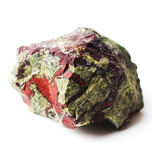 Delawen 1 unid dragón Natural Sangre Piedra Cristal Roca Roca Piedra Mineral espécimen Chakra Reiki curación Piedras Preciosas Hechas a Mano Sala de Malvado espíritu Dinero Dibujo Riqueza Fortuna