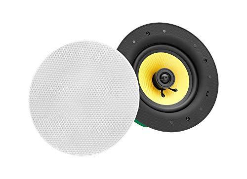 Pronomic CLS-630BT High-End Bluetooth Deckenlautsprecher - 2-Wege koaxial Einbaulautsprecher Box - 6,5
