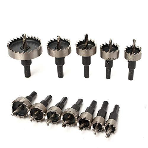 De múltiples fines 12 / 13pcs 15-53mm HSS Broca Conjunto Sierras agujero consideró la herramienta de mano de perforación Kit de cortador de madera del acero inoxidable y aleación de corte para vidrio,