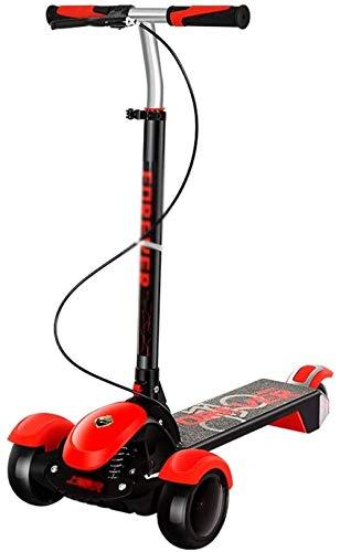 FHDFH Patinete de patada, scooter para niños, scooter para adultos, plegable, ligero, pedal antideslizante, adecuado para adolescentes y adultos