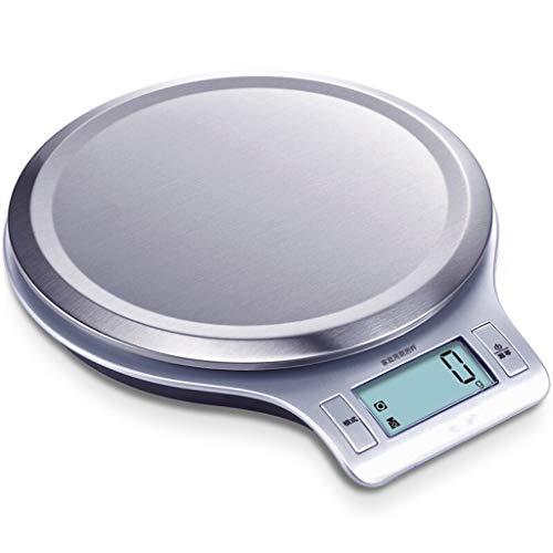 Mjd weegschaal voor het huishouden, zeer nauwkeurige elektronische weegschaal, precisiekeuken, achterschaal, grote schijfoppervlak, zilverkleurig
