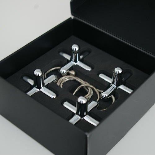 Alessi   Tripod GCH01 - Design Trivet in Chromed Zamak, Mirror Polished