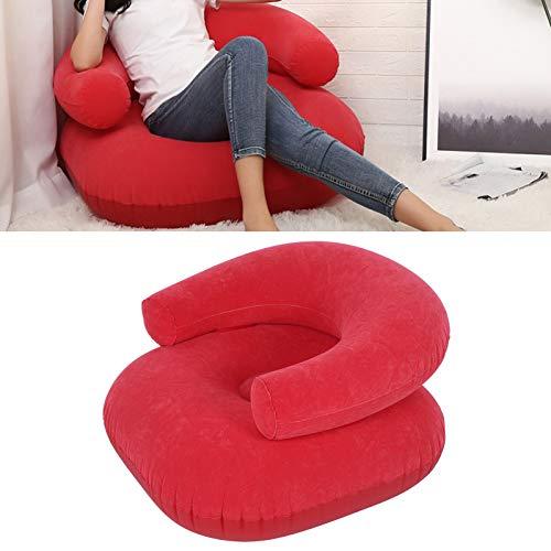 HelloCreate Aufblasbares Sofa, aufblasbares Beflockungs-Sofa, Stuhl, Outdoor-Möbelzubehör, geeignet für Innenhof, Camping, Reisen, Strand, Wandern