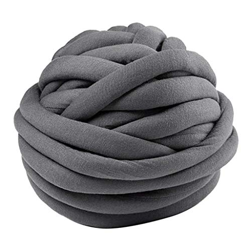 Tubayia 25M Merinowolle zum Stricken & Ha?keln Dickes Wolle Garn fu?r DIY Schal, Decke, Kissen (Dunkel Grau)