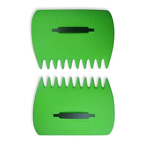 SCHOME Large Garden and Yard Leaf Scoops,Plastic Scoop Grass,Hand Leaf Rakes And Leaf Collector For Garden Rubbish Great Tool (Set Of 2)