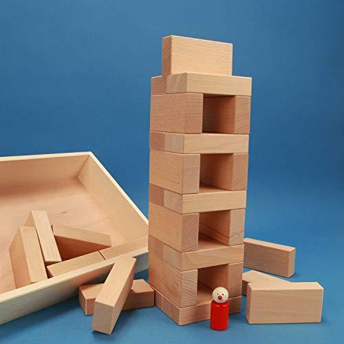 """Fröbel-Bausteine-Set """"Spezial 29"""" in der flachen unbehandelten Griffmulden-Buchen-Kiste aus der Manufaktur Tischlerschuppen - 4"""