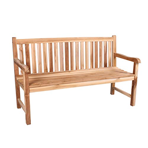 CHICREAT 3-seater bench in teak, garden bench, teak bench, approx. 150 cm wide