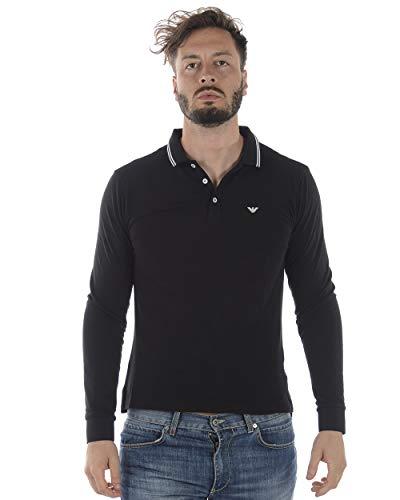 EMPORIO ARMANI TEWA Tops y Camisetas Hombres Negro - S - Polos Manga Larga