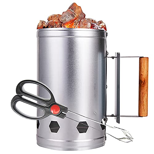 URJEKQ Barbecue BBQ Chimney Starter Quick Start Charcoal Burner Lighter Coal Food Summer Garden Party