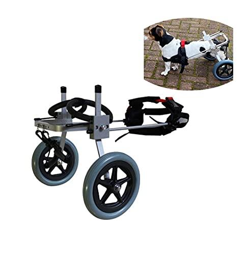 Hund Rollstuhl,Hunderollstuhl Hunderollwagen Gehhilfe,Passend für Haustier Cat Puppy Beagle Schaeferhund Lähmung Verletzt Hinterbeine Rehabilitation,Einstellbar,2 Räder 7kg (15lbs)- 25kg (55lbs)