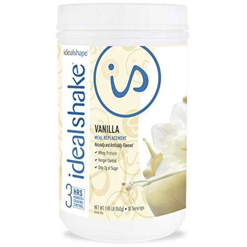 IdealShake Meal Replacement Shakes  11-12g of Healthy Whey Protein Blend   Promotes Weight Loss   22 Essential Vitamins & Minerals   5g of Fiber   Vanilla   30 Servings