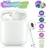 Auriculares Bluetooth 5.0, con reducción de ruido 3D estéreo HiFi, auriculares deportivos, auriculares Bluetooth IPX7, impermeables, emparejamiento automático, compatible con Android/Huawei/iphone
