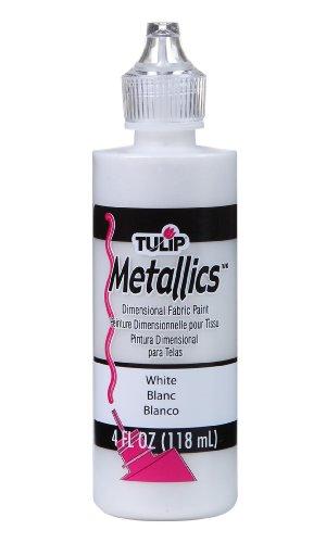 Tulip - Vernice a Rilievo Slick, bottiglietta da 118 ml, Colore: Bianco