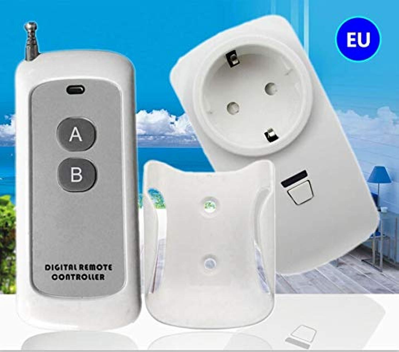 Calvas RF Remote Control Socket AC 220v European Standard Plugs+ 1 Remote Control Distance 100m EU Standard