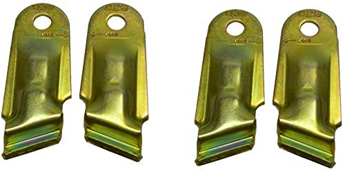 FKAnhängerteile 2 x ALKO Stoßdämpferhalter AL-KO Euro Achsen, Set kpl. für 1 Achse