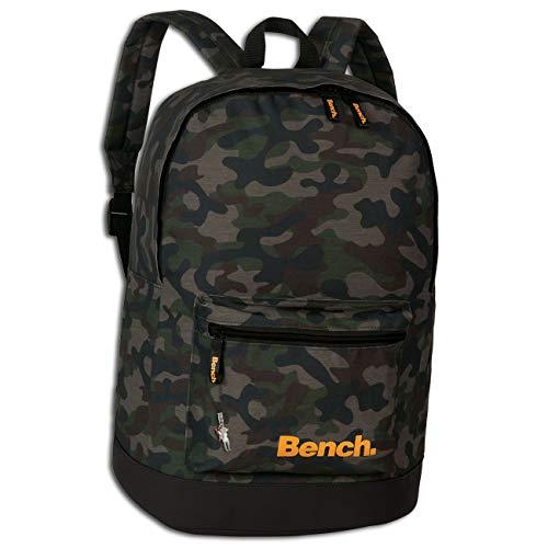 Bench Schulrucksack Camouflage olivgrün Tarnmuster Rucksack 31x42x20 ORI301F Kunstleder Rucksack