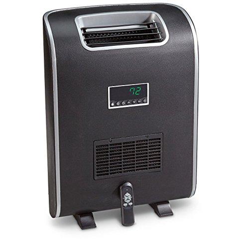LifeSmart Slimline Dual Mount Large Room Heater, Black