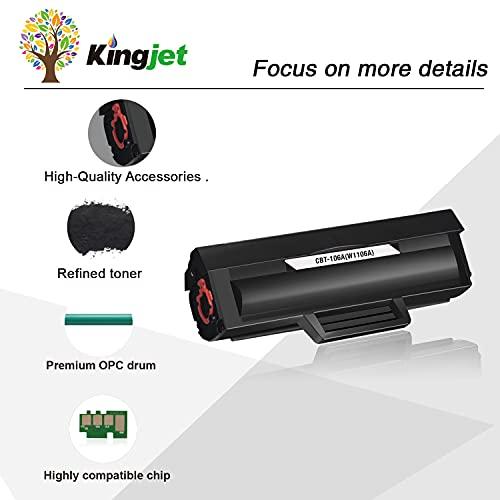 Kingjet Merotoner - Juego de 2 cartuchos de tóner compatibles para HP 106A W1106A para HP Laser MFP 135wg MFP 137fwg MFP 135ag MFP 135w 135a 135r 137fnw HP Laser 107w 107a 107r