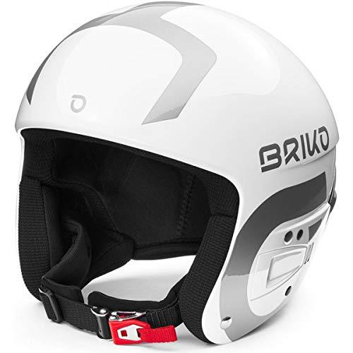 Briko Vulcano Fis 6.8 Multi Impact Ski/Snow Helmet, Adult Unisex, Shiny White-Silver, Large