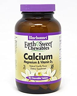Bluebonnet Nutrition Earthsweet Chewables Calcium Magnesium & Vitamin D3, Vanilla, 90 Count