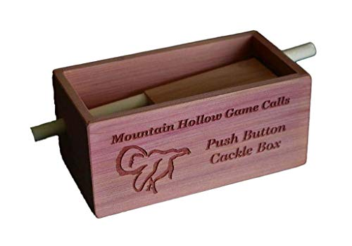 Mountain Hollow Game Calls Cedar Push Button Cackle Box Turkey Call