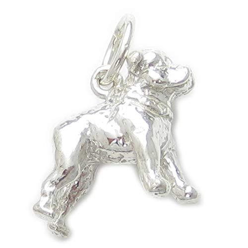 Staffordshire Bull Terrier Dog strlng silver charm .925 x1 Staffie Charms -SFP