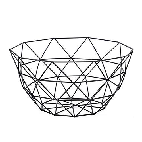 MoGist Frutero, Frutero, Moderno y lleno de estilo, de metal, decorativo, para frutas, verduras, aperitivos, 26 x 13,5 cm, metal, Negro , 26*13.5cm