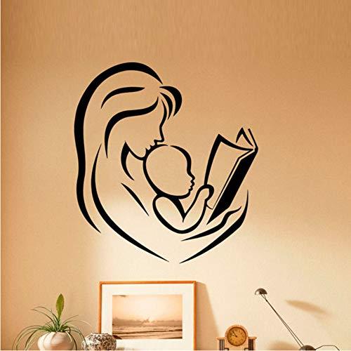 Pbbzl Mutter en baby, bladwijzer, muurstickers, decoratie voor huis, kinderen, kinderkamer, decoratie van vinyl, kunst, muurstickers, 64 x 59 cm