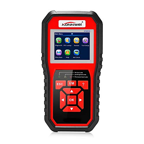Nero KONNWEI KW902 OBDII Scanner Diagnostico per Auto Mini BT OBDII Wireless Strumenti di Scansione Diagnostica